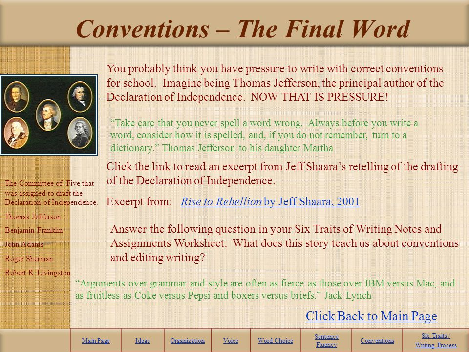 Conventions – The Final Word
