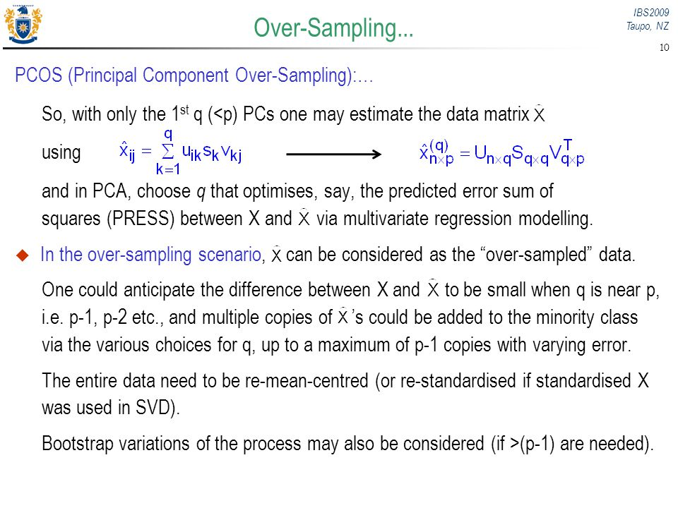 Over-Sampling... PCOS (Principal Component Over-Sampling):…
