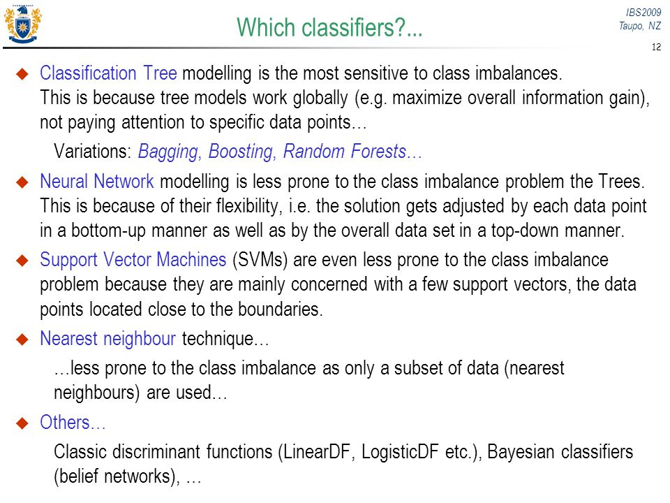 Which classifiers ...