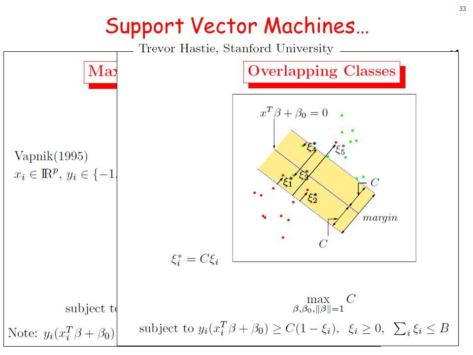 Support Vector Machines…