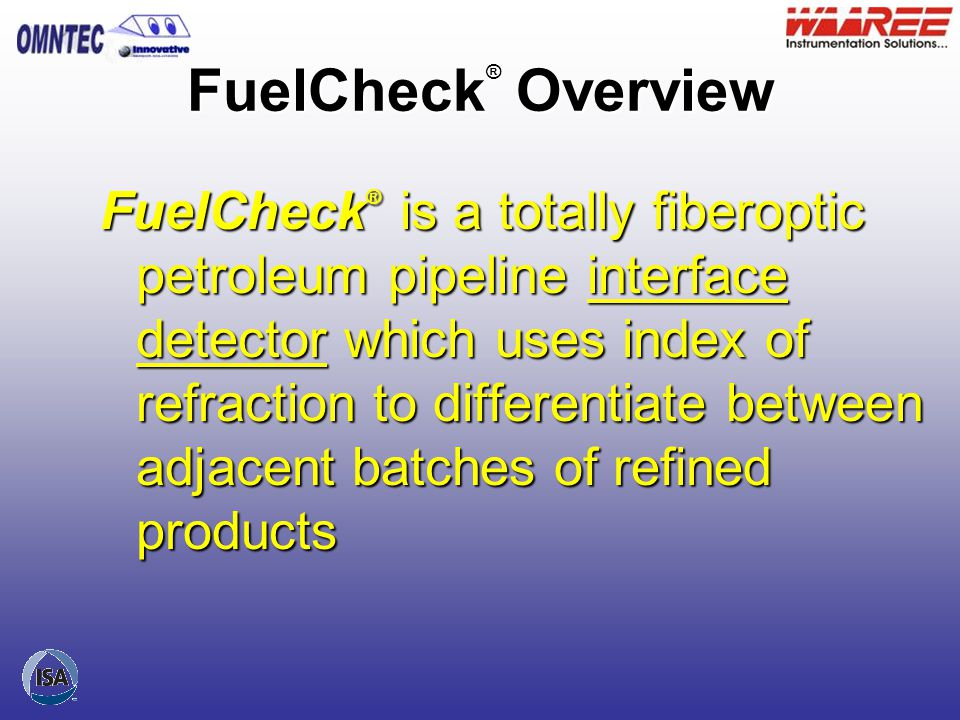 FuelCheck® Overview