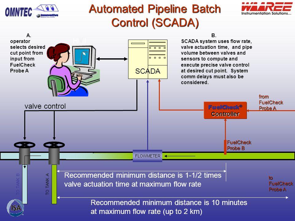 Automated Pipeline Batch Control (SCADA)