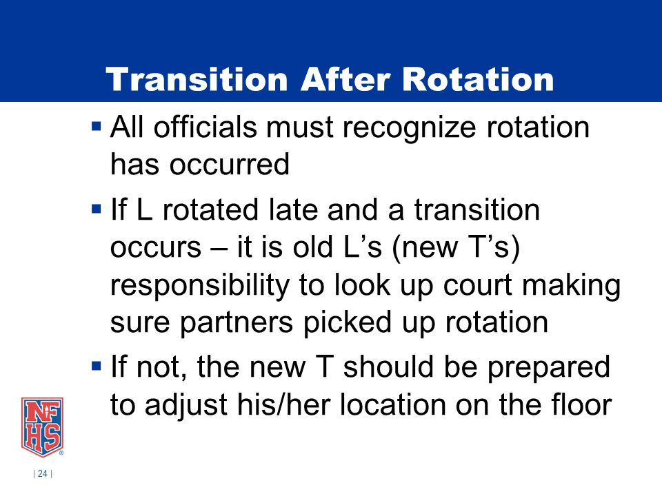 Transition After Rotation