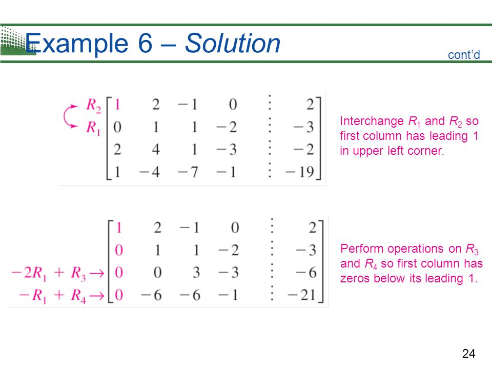 Example 6 – Solution cont'd Interchange R1 and R2 so