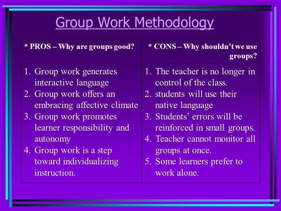 Group Work Methodology