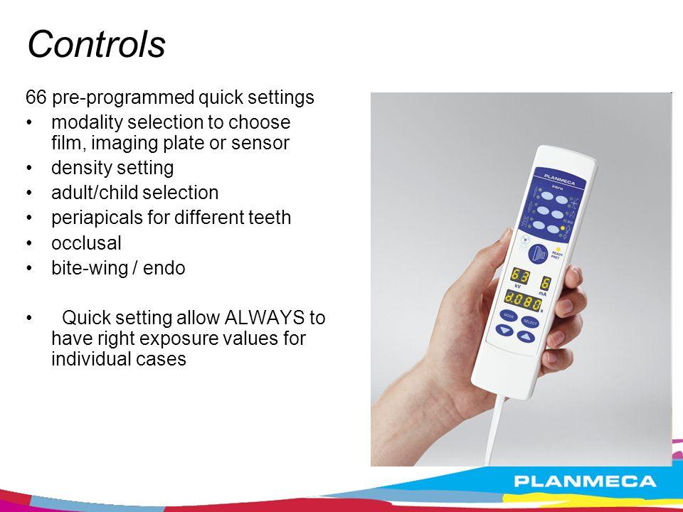 Controls 66 pre-programmed quick settings
