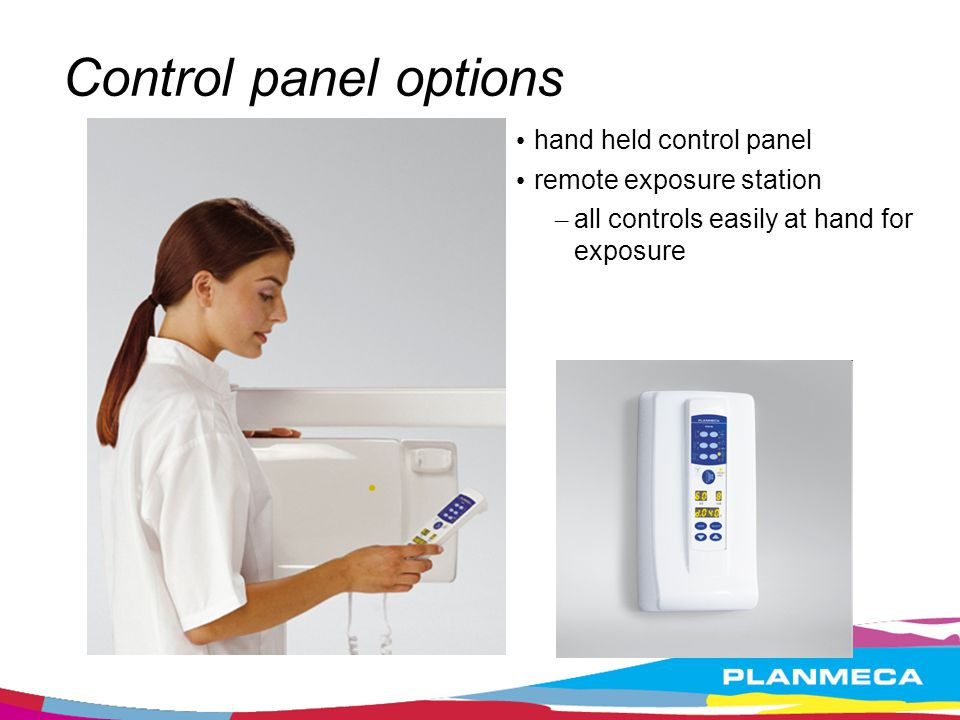 Control panel options hand held control panel remote exposure station
