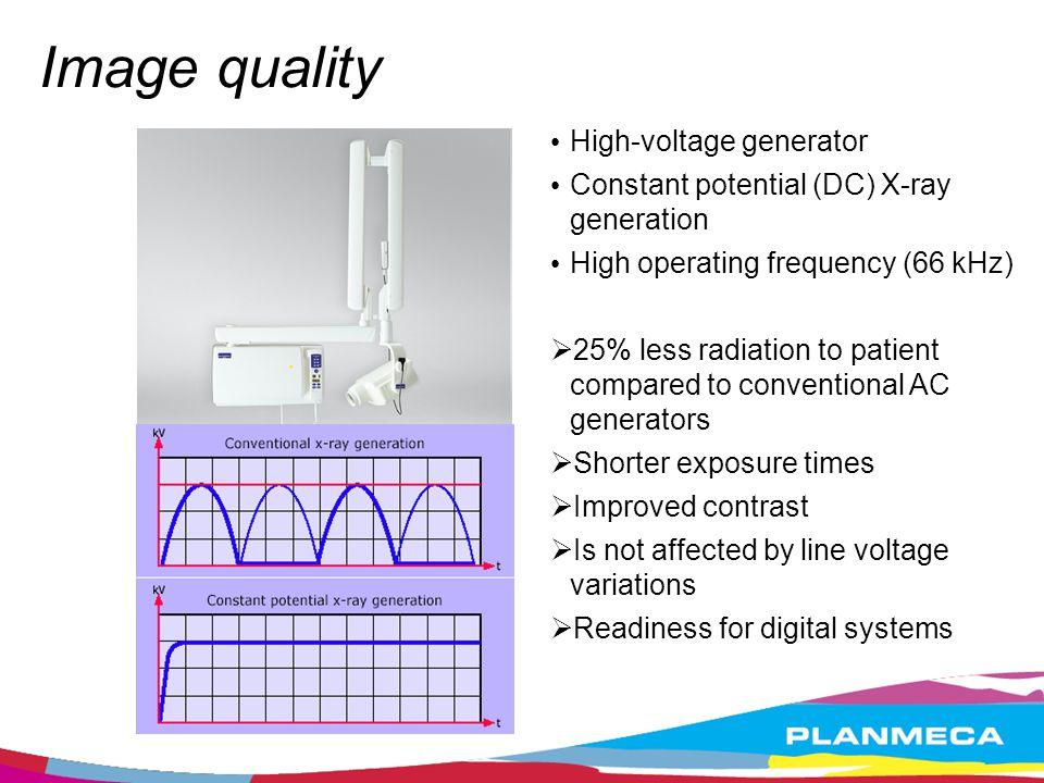 Image quality High-voltage generator