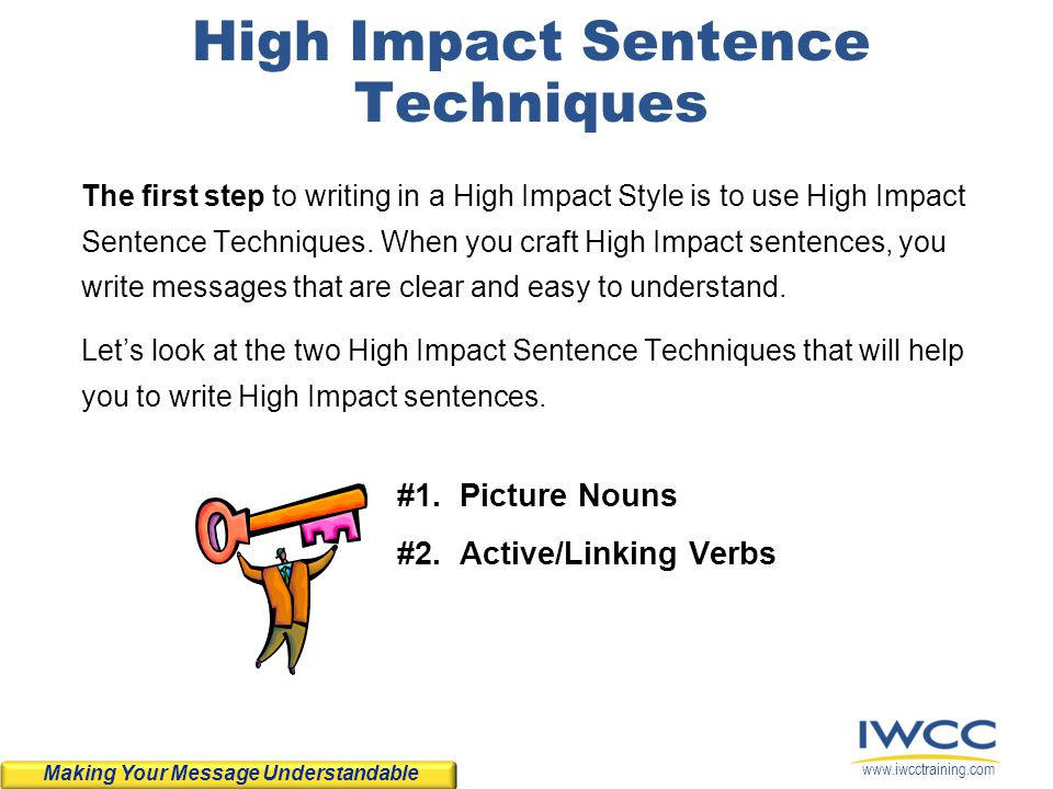High Impact Sentence Techniques