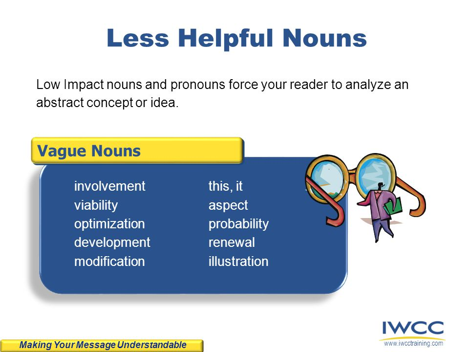 Less Helpful Nouns Vague Nouns