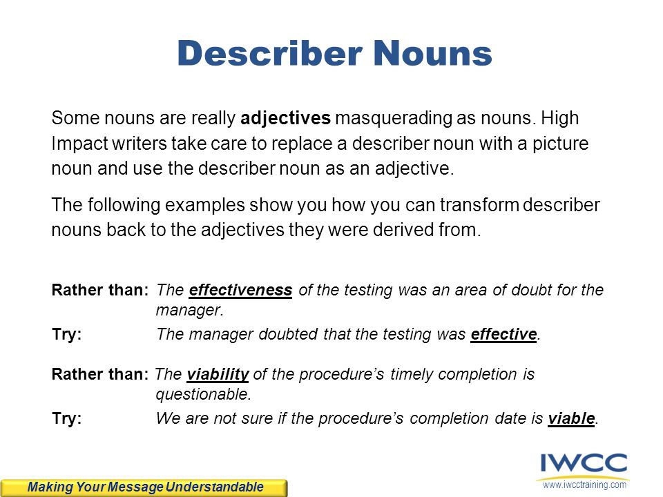 Describer Nouns