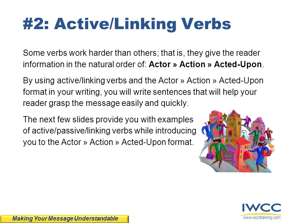 #2: Active/Linking Verbs