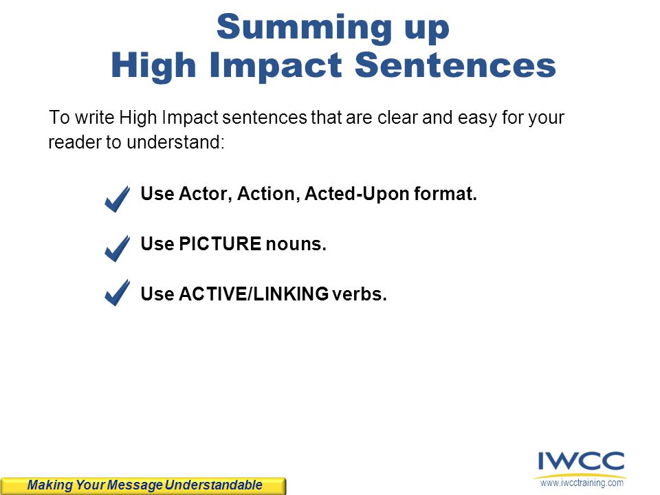Summing up High Impact Sentences
