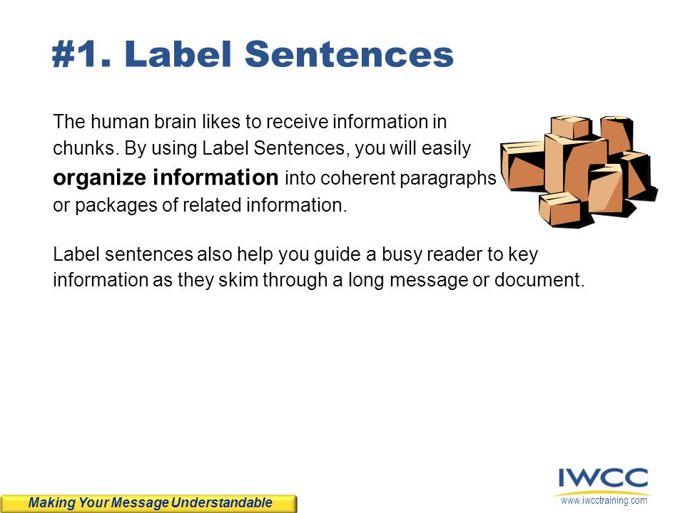 #1. Label Sentences