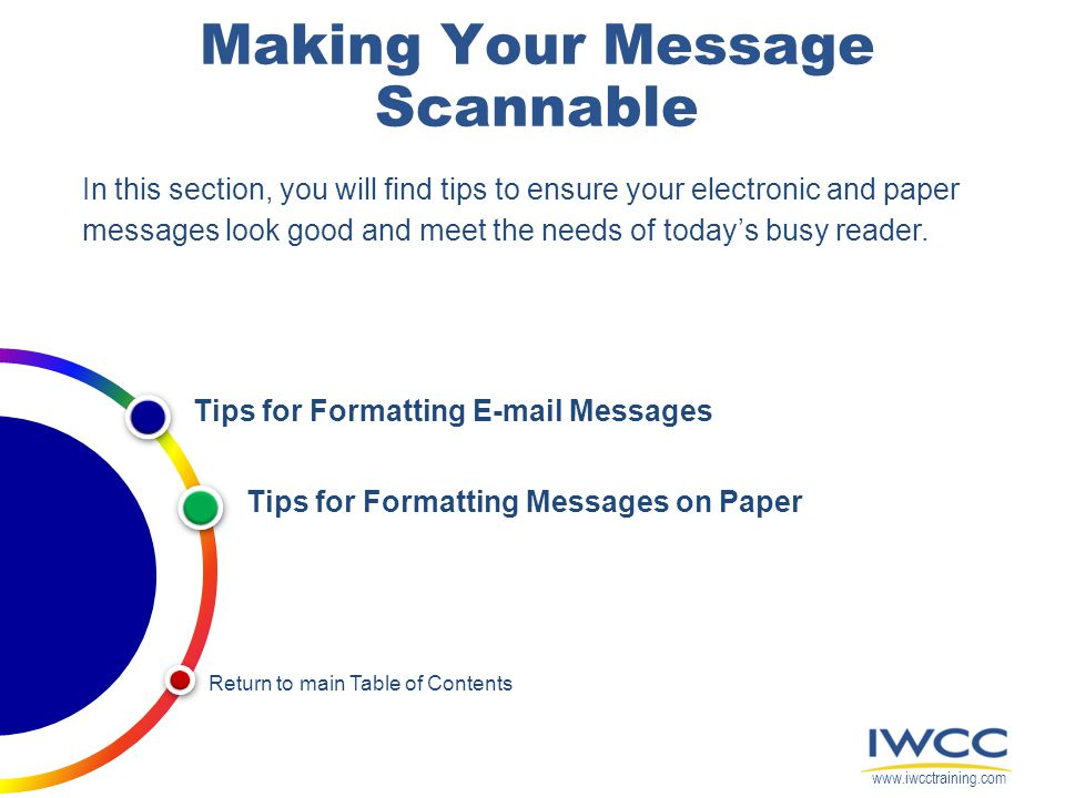 Making Your Message Scannable
