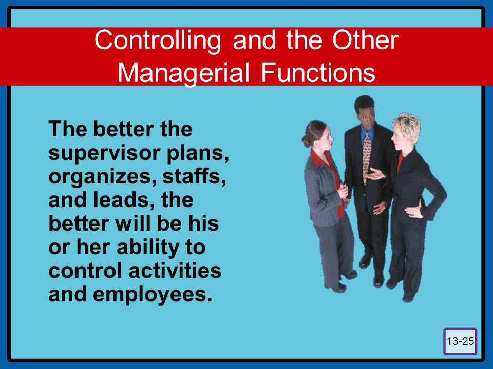 Controlling and the Other Managerial Functions