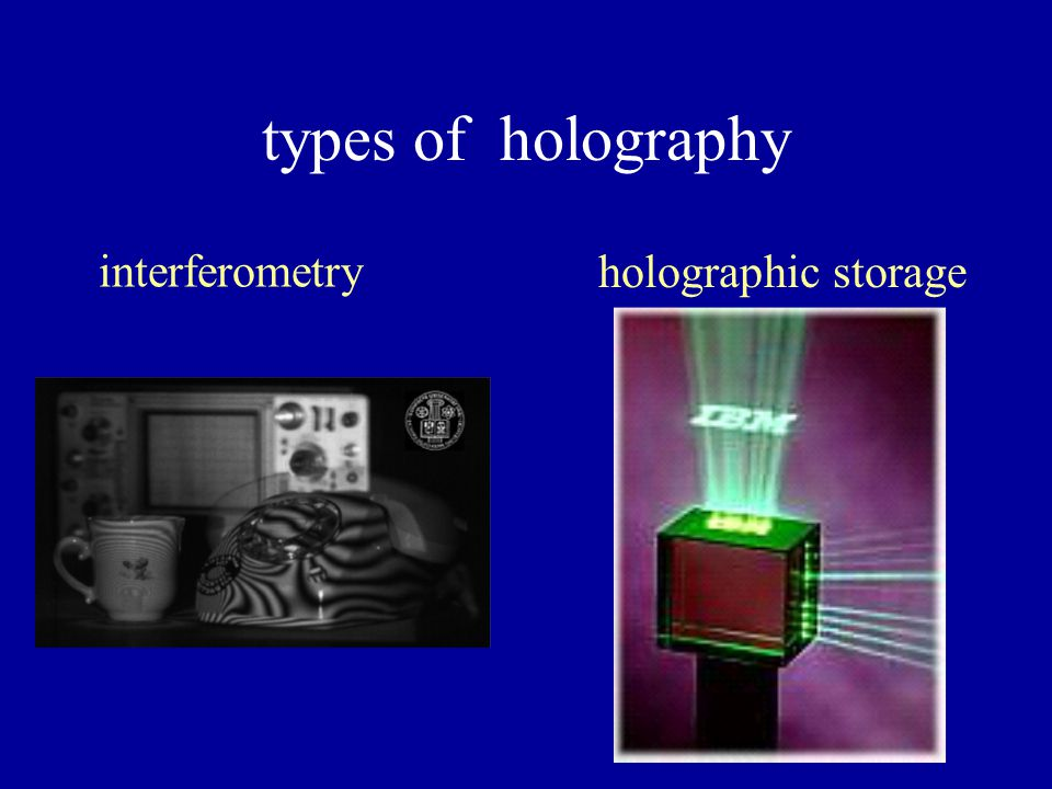 types of holography interferometry holographic storage