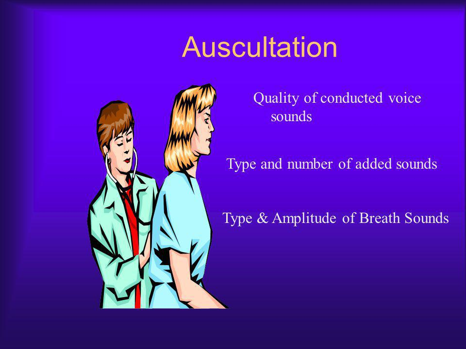 Auscultation Quality of conducted voice sounds