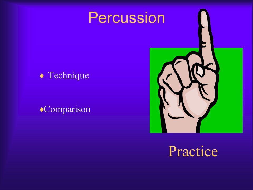 Percussion Technique Comparison Practice