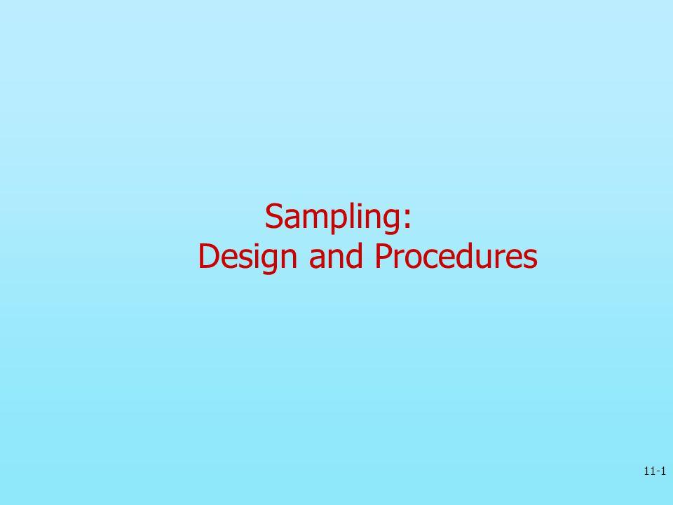 Sampling: Design and Procedures