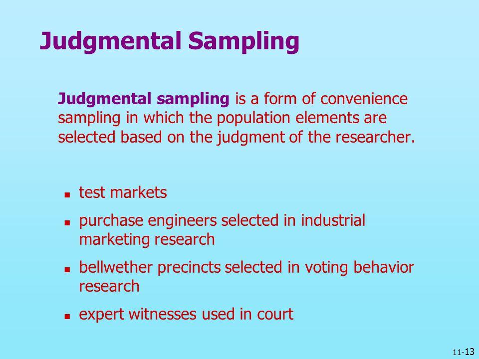 Judgmental Sampling