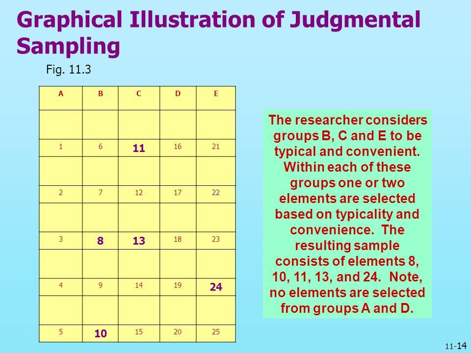 Graphical Illustration of Judgmental Sampling