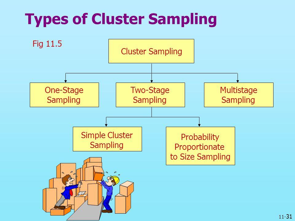 Types of Cluster Sampling