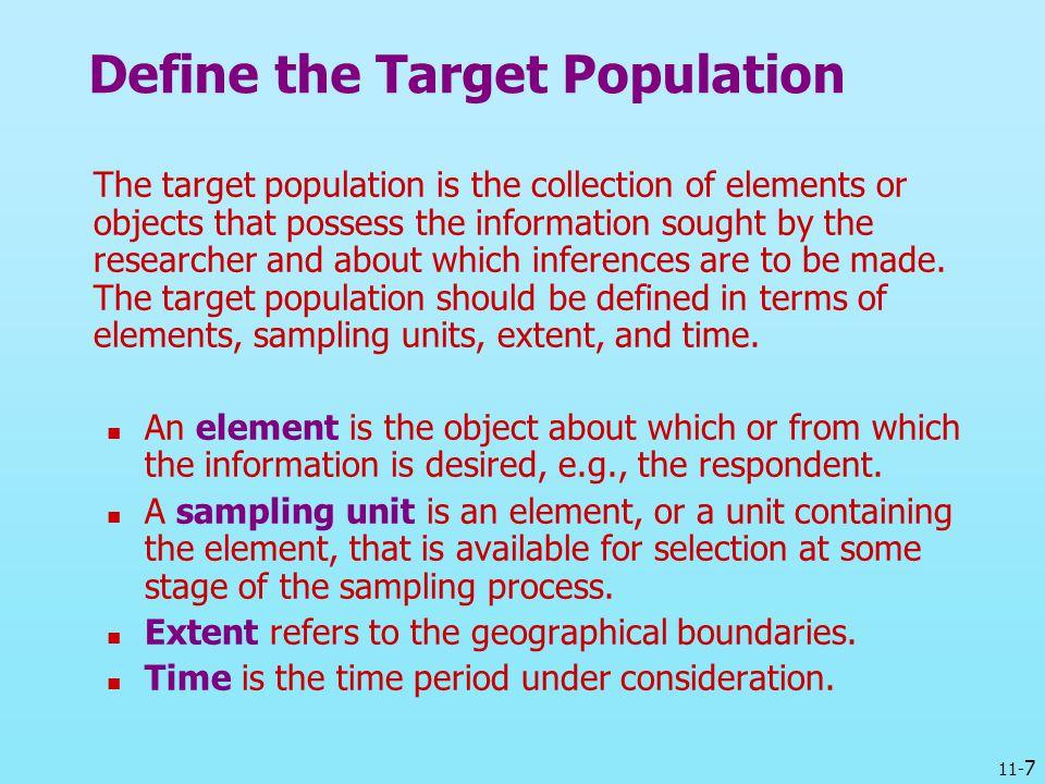Define the Target Population