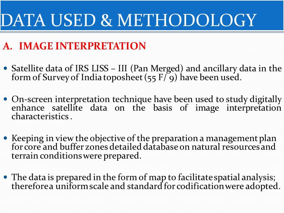 DATA USED & METHODOLOGY