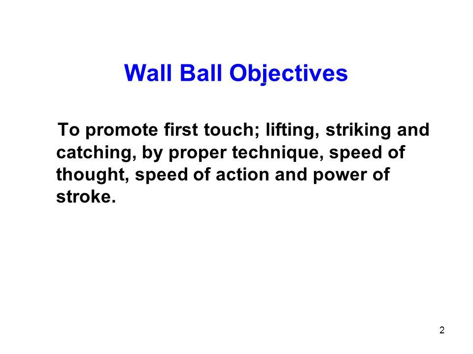 Wall Ball Objectives