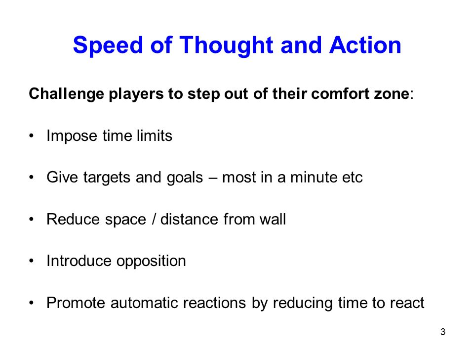 Speed of Thought and Action