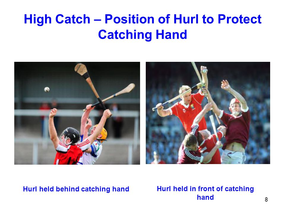 High Catch – Position of Hurl to Protect Catching Hand