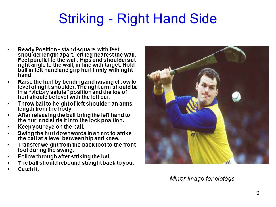 Striking - Right Hand Side
