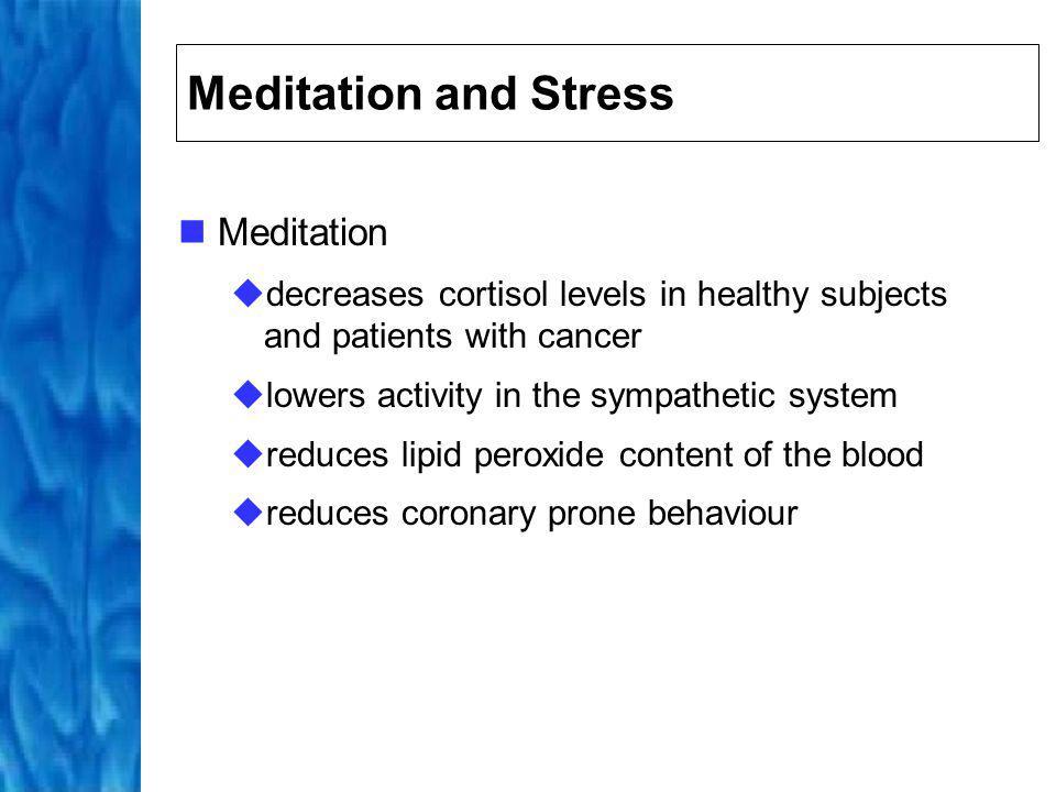 Meditation and Stress Meditation