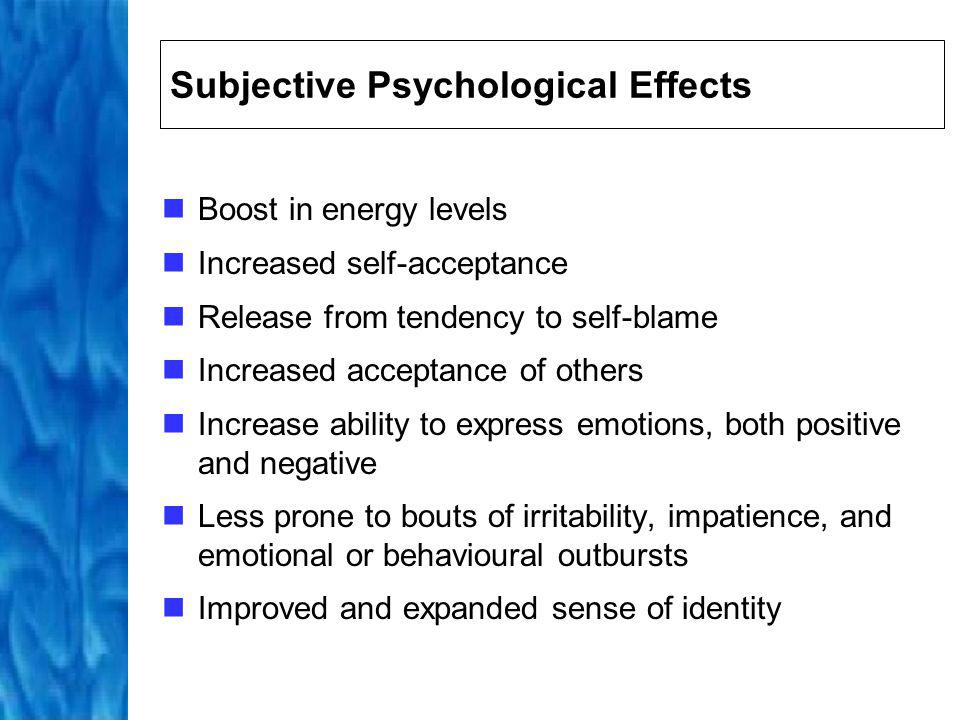Subjective Psychological Effects