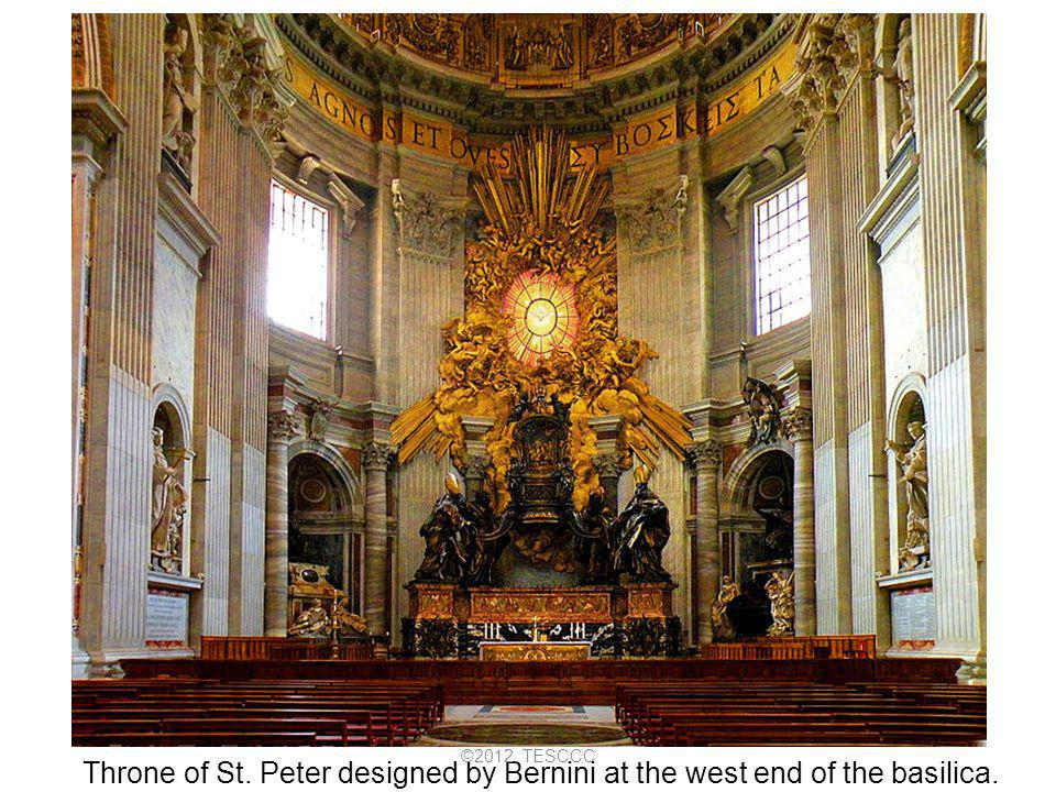 ©2012, TESCCC Throne of St. Peter designed by Bernini at the west end of the basilica.