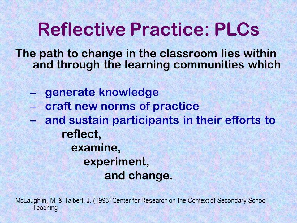 Reflective Practice: PLCs