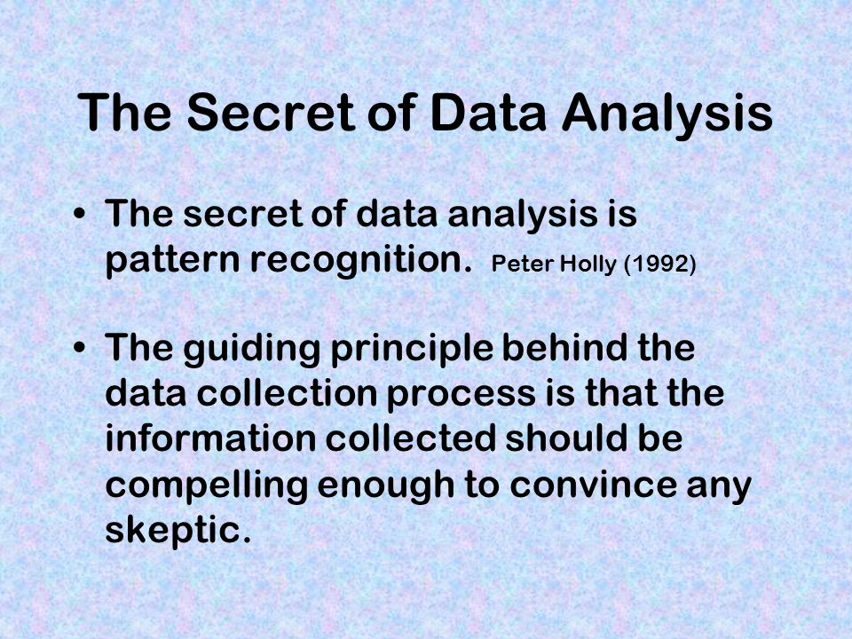 The Secret of Data Analysis