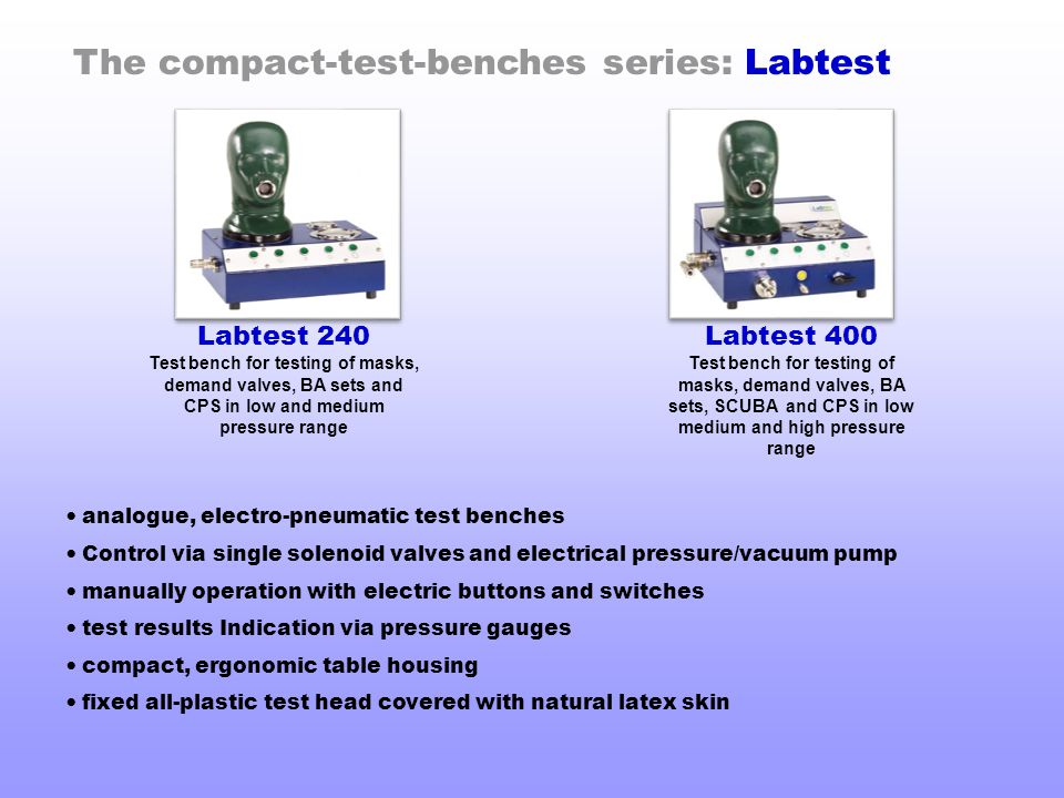 The compact-test-benches series: Labtest