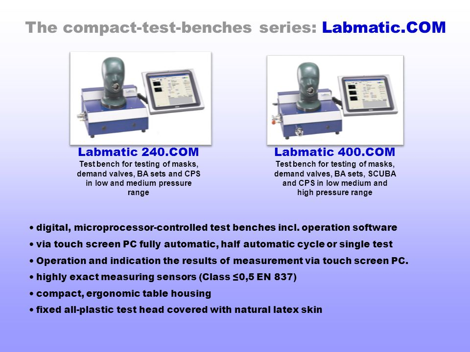 The compact-test-benches series: Labmatic.COM