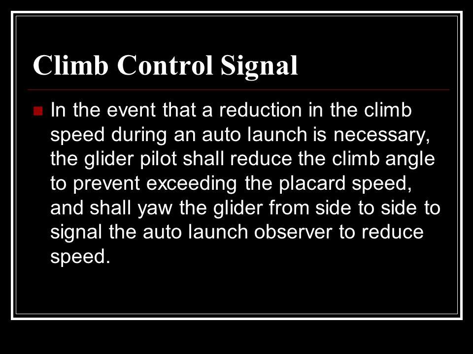 Climb Control Signal