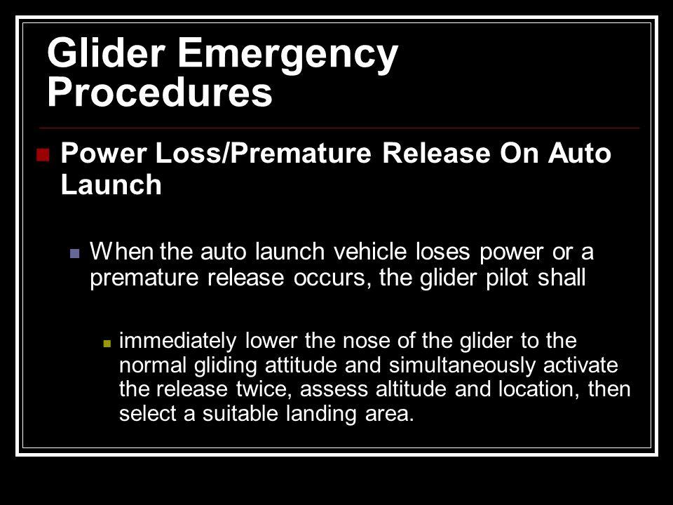 Glider Emergency Procedures