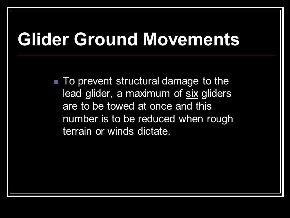 Glider Ground Movements