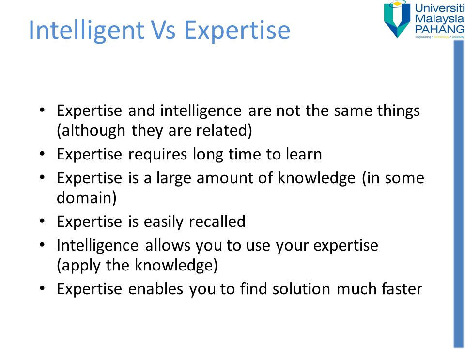 Intelligent Vs Expertise