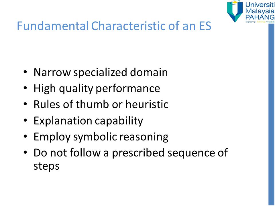 Fundamental Characteristic of an ES