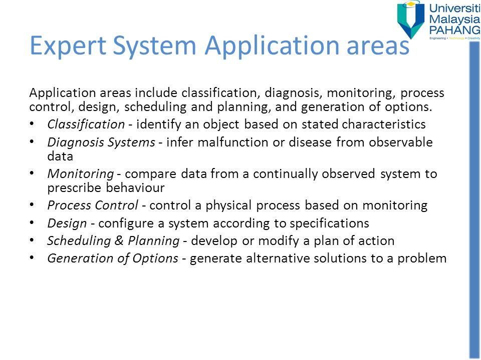 Expert System Application areas