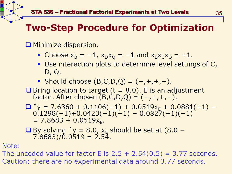 Two-Step Procedure for Optimization
