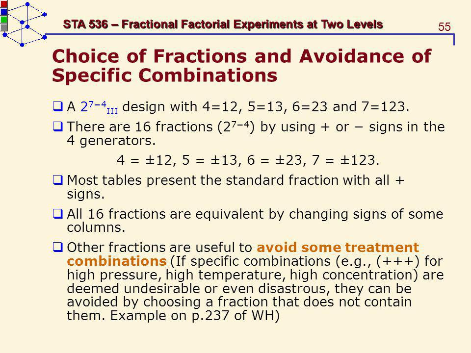 Choice of Fractions and Avoidance of Specific Combinations