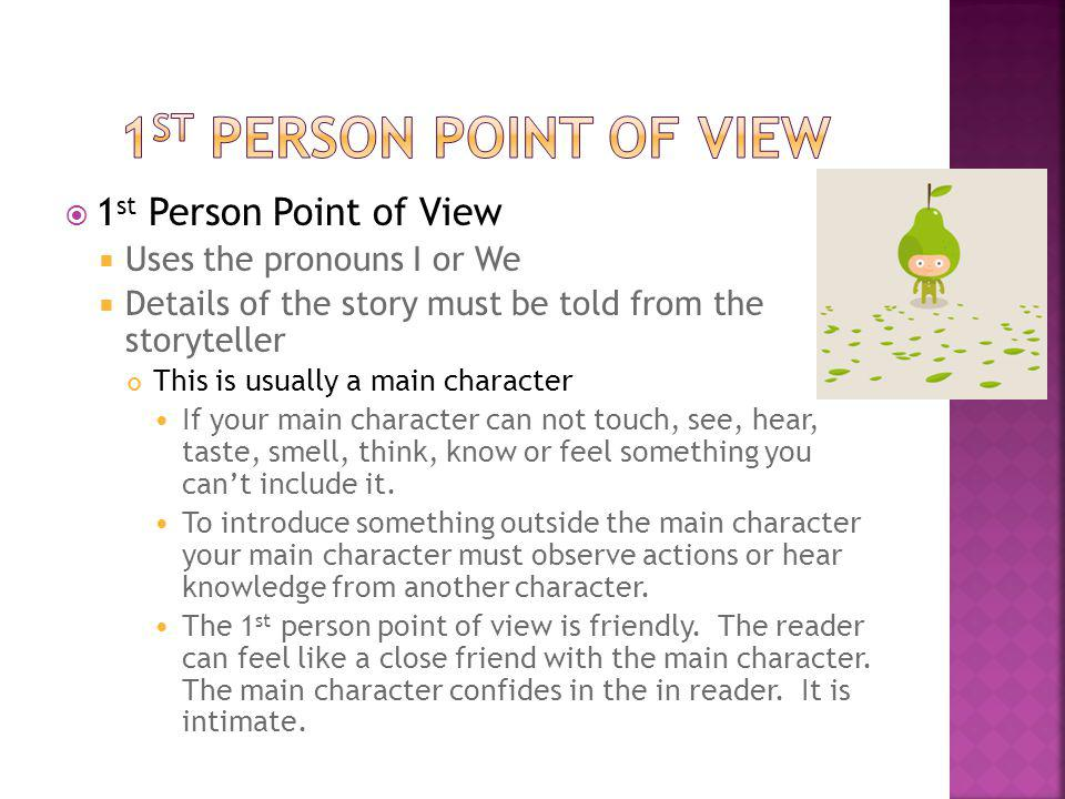 1st person Point of View 1st Person Point of View