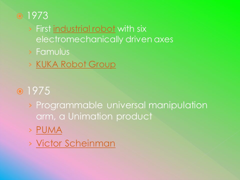 Programmable universal manipulation arm, a Unimation product